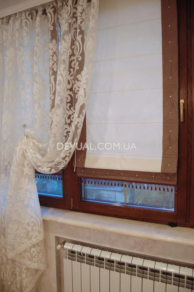 Римские шторы из тюля